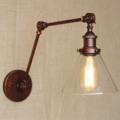 Cheap light equipment, Buy Quality light years lamps directly from China light dslr Suppliers: industrial style antique rust iron glass wall lamp/swing arm wall lighting for workroom/Bathroom Vanity 2 applies arm Tornado