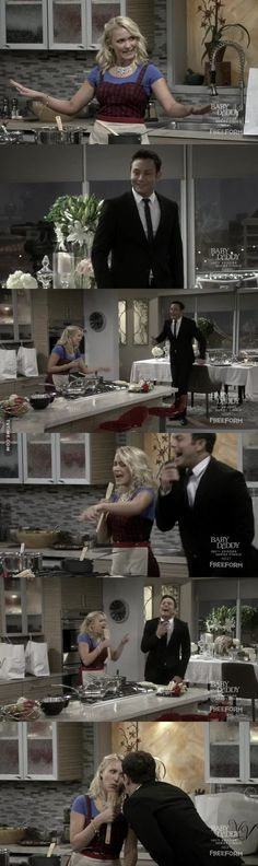Josh: Tegan and Sara?   Gabi: Yeah.  Josh: I karaoke to this song all the time!   Gabi: Me too!   Both: I want you close I want you I won't treat you like you're typical Look at you! Oh, my gosh!. (Young & Hungry - 5x10)