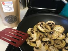 Sauté mushrooms in olive oil and Naturiffic's Q Salt! Amazing flavor & healthy too!