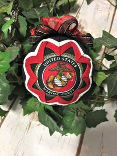 HANDMADE QUILTED Ornament/US Marine Corp Ornament/great gift