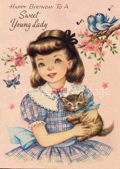 Vintage Child's Birthday Greeting Cards CD V. 2