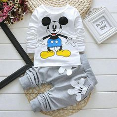 Baby Clothes Toddler Boy Kids Boy Clothes Pullover Top &Pants Outfits Cartoon - October 05 2019 at Toddler Boy Fashion, Toddler Girl Outfits, Kids Outfits, Kids Fashion, Baby Outfits, Fashion Clothes, Fashion 2016, Fashion Trends, Spring Fashion