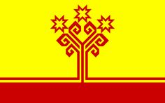 The Tree of Life, as seen as in flag of Chuvashia, a Turkic state in the Russian Federation