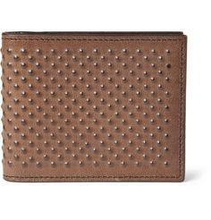 Alexander McQueenStudded-Leather Wallet MR PORTER