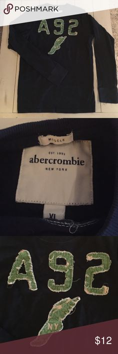 Youth Abercrombie Long Sleeve T-Shirt Heavyweight and super soft.  Great winter long sleeve T.  Very god condition.  100% Cotton. abercrombie kids Shirts & Tops Tees - Long Sleeve