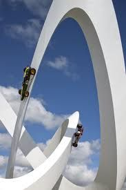 Classic car sculpture for Lotus at Goodwood Festival of Speed by Gerry Judah