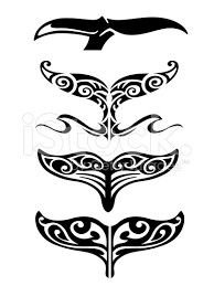 Whale tail fin tribal tattoo designs