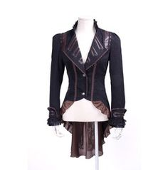 Steampunk Long Ruffle Coat