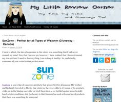 Read the My Little Review Corner SunZone sunscreen review now!