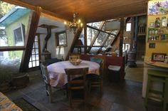 Taos Earthship interior