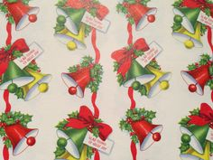 Vintage Christmas Gift Wrapping Paper  Glad by TheGOOSEandTheHOUND, $6.00