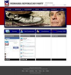 #political #design for the Nebraska Republican party. www.transformationmarketing.com