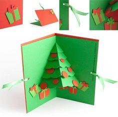 DIY Christmas Tree Pop Up Card