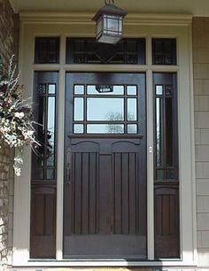 New front door idea (center one only), plus updated light fixture. House Design, Wooden Doors Interior, Painted Front Doors, House Exterior, Front Door, Beautiful Doors, Exterior Doors, Prehung Doors, Doors