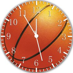 """New Basketball wall Clock 10"""" will be nice Gift and Room wall Decor X32"""