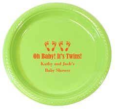 Confetti Dots Oh Babies Plastic Plates | Baby Showers | Pinterest | Plastic plates Baby shower announcement and Holiday photo cards  sc 1 st  Pinterest & Confetti Dots Oh Babies Plastic Plates | Baby Showers | Pinterest ...