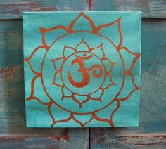 Om painting on canvas by DesignsbySimona on Etsy, $25.00