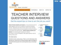 Teacher Interview Questions | Classroom Ideas | Pinterest ...