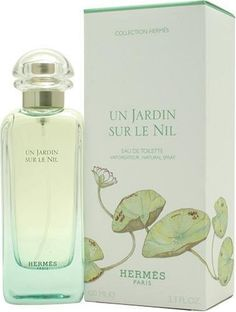Hermes Un Jardin Sur Le Nil.  Hermes says it's a blend of Lotus, Green Mango, Grapefruit, Calamus, Sycamore, and Incense.  I think it smells faintly of apricot, white musk, and green.  One of my signature scents.