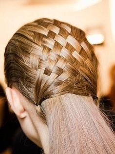 Basket Weave Hair style..i've tried this before and it actually come out pretty nice