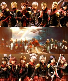 Final Fantasy type zero - can I tell you guys a secret I use only about half of these guys (ace, king, machina, trey, cater, seven, king, and jack that is)