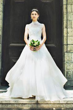 #EPNV29 #NOVARESE #weddingdress #ribon #ノバレーゼ #ウエディングドレス #Aライン #オーガンジー #ハイネック