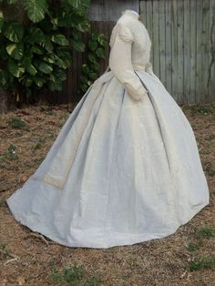 """1866-69 Reception Dress 