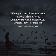 Positive Quotes : QUOTATION – Image : Quotes Of the day – Description When you truly don't care what anyone thinks of you you have reached a dangerously awesome level of freedom. via (ThinkPozitive.com) Sharing is Power – Don't forget to share this quote ! https://hallofquotes.com/2018/03/08/positive-quotes-when-you-truly-dont-care-what-anyone-thinks-of-you-you-have-reached-a-dangerous/