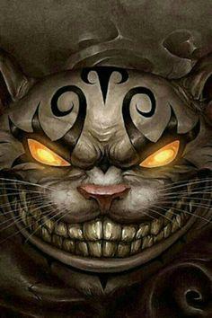 Crazy Alice and Wonderland cat