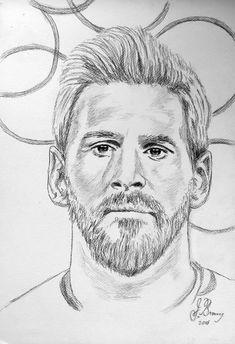 dibujo de lionel messi clase de artes in zeichnung - messi drawing easy Cool Art Drawings, Art Drawings Sketches, Cartoon Drawings, Easy Drawings, Pencil Sketch Drawing, Pencil Art Drawings, Portrait Sketches, Pencil Portrait, Messi Drawing