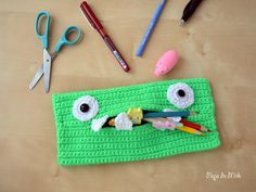 Crochet Monster Pencil Case - Pops de Milk