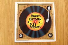 8 x 8 60th Birthday Record Scalloped Corner Topper - Photo by Denise Mynard