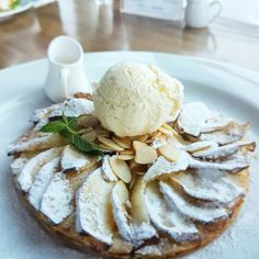 How do you treat your afternoon ? Let's having Apple Tart and a cup of tea.  #on20makassar | on20makassar.com