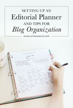 Setting up an editorial planner for organisation Blog Organisation, Planer Organisation, Business Organization, Planners, Blog Planning, Web Design, Travel Blog, Branding, Marca Personal