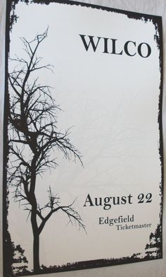 Wilco poster concert $9.84