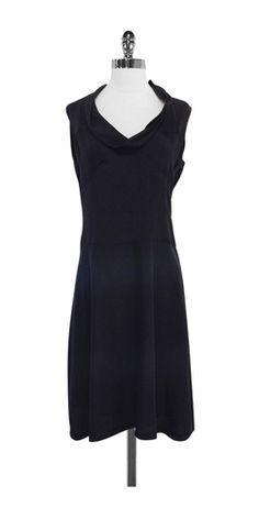 Cacharel Black Silk Sleeveless Dress