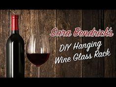 Diy Rustic Wine Glass Hanging Rack