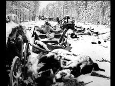 Finnish Winter War against the Soviet Union Defence forces newsreel Raatteentie