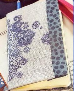 BLACKWORK-esquemas (pág. 111) | Aprender manualidades es facilisimo.com ---ohhhhh I never thought about making book covers!