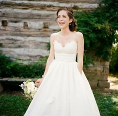 wedding dress with pockets - I can totally see you wearing a dress with Pockets crystal lol