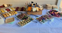 Appetizer Buffet- Curry Chicken Tartlets, Prosciutto Wrapped Asparagus, Cheese Board & Crackers, Beef Crostini, Fruit Platter, Assorted Cookies