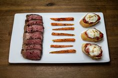 [Homemade] Bruschetta Carrot Steak Dinner #food #foodporn #recipe #cooking #recipes #foodie #healthy #cook #health #yummy #delicious