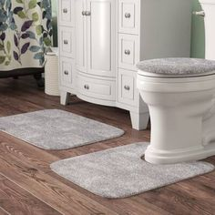 Beautiful Fresnel 3 Piece Bath Rug Set by Andover Mills Rugs Home Decor Furniture from top store Double Shower Curtain, Shower Curtain Hooks, Custom Shower Curtains, Bathroom Ensembles, Tufted Headboards, Shower Rod, Bath Towel Sets, Shop Interiors, Bath Rugs