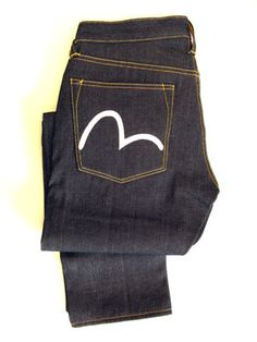 I like these jeans.  Evisu mens jeans. Nice