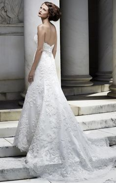 My dress from the back. Casablanca Bridal 2072
