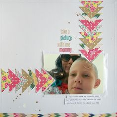 I love the triangles!  What a great way to use up scraps!  -DO