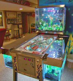Pinball Aquarium by Acrylic Tank Manufacturing