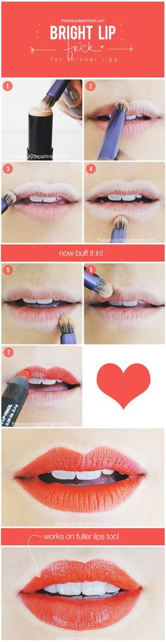 Give the illusion of a plumper lip when rocking bright colors!