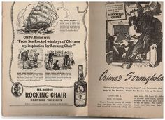 Mr. Boston Rocking Chair Blended Whiskey 1940s