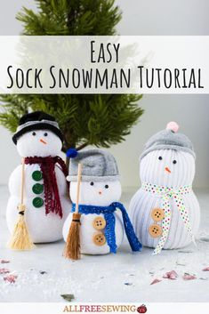 This sock snowman DIY is fun for the whole family! Make these thrifty creations for winter with little or no sewing.